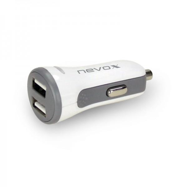 USB Dual port KFZ Ladeadapter mit AUTO-ID 4.8A / 24W