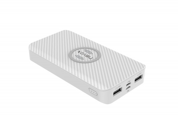 Wireless POWERBANK - 10000mah TRIPLE - Input weiss