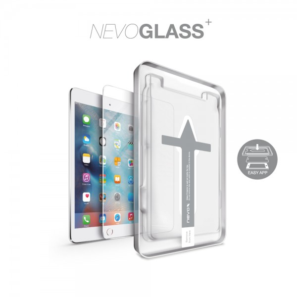 "NEVOGLASS - iPad 10.2"" - 8. Generation (2020) / 7. Generation (2019) tempered Glass mit EASY APP"