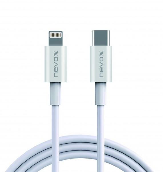 1M - Lightning zu Type C USB Datenkabel MFi, weiss