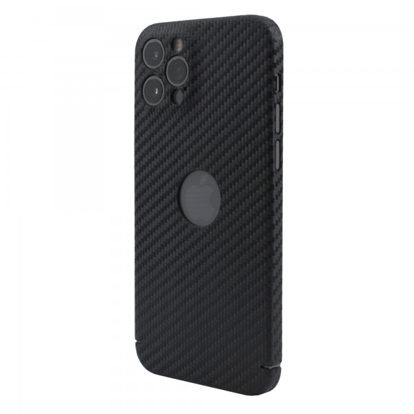 "CarbonSeries Cover - iPhone 12 Pro 6.1"" mit Logoausschnitt (MagSafe kompatibel)"