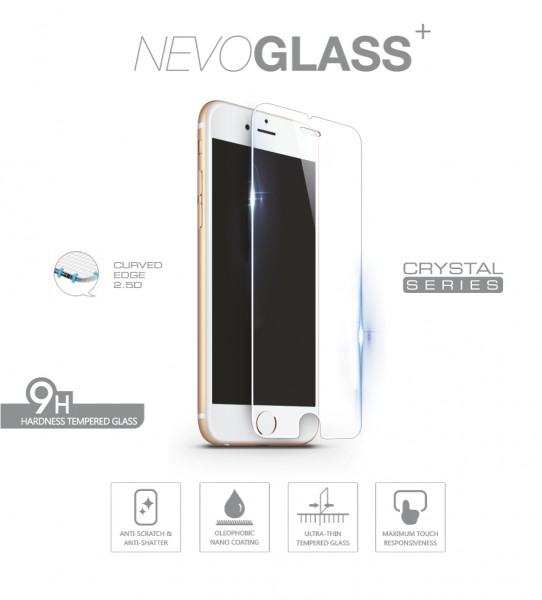 NEVOGLASS - iPhone 8 / 7 / 6S / 6 tempered Glass ohne EASY APP