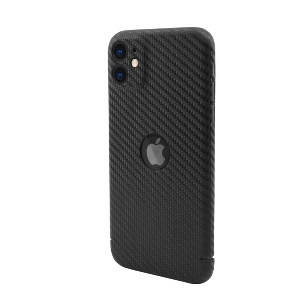 "CarbonSeries Cover - iPhone 11 - 6.1"" mit Logoausschnitt"