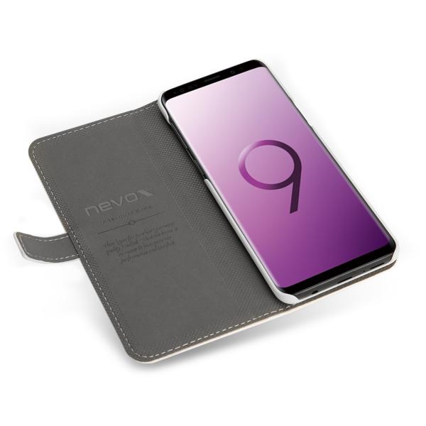 ORDO - Samsung Galaxy S9 Booktasche, weiss-grau