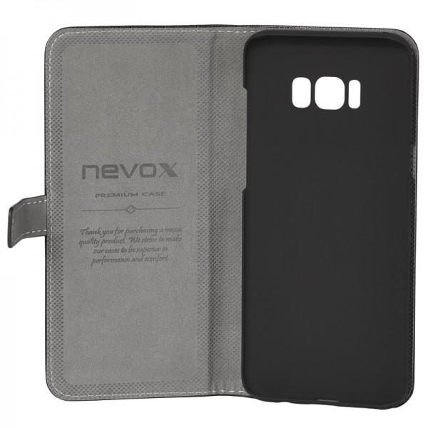 ORDO - Samsung Galaxy S8 Plus Booktasche, schwarz-grau