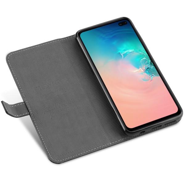ORDO - Samsung Galaxy S10 Plus Booktasche, schwarz-grau