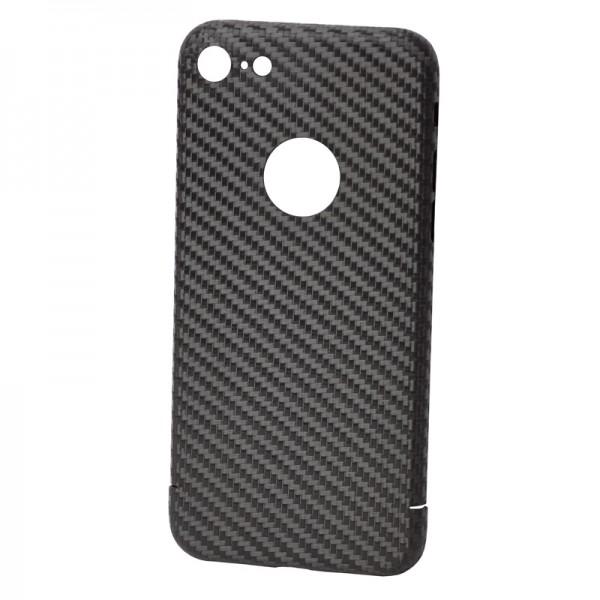 CarbonSeries Cover - iPhone 8 mit Logoausschnitt