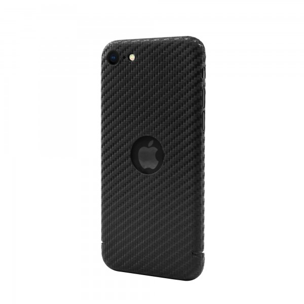 CarbonSeries Cover - iPhone SE 2020 mit Logoausschnitt
