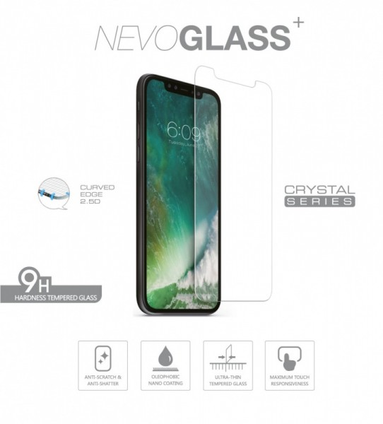 NEVOGLASS - iPhone XS / X tempered Glass ohne EASY APP