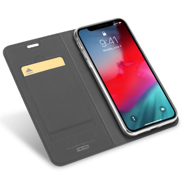 Vario Series - iPhone XS MAX Booktasche, basaltgrau