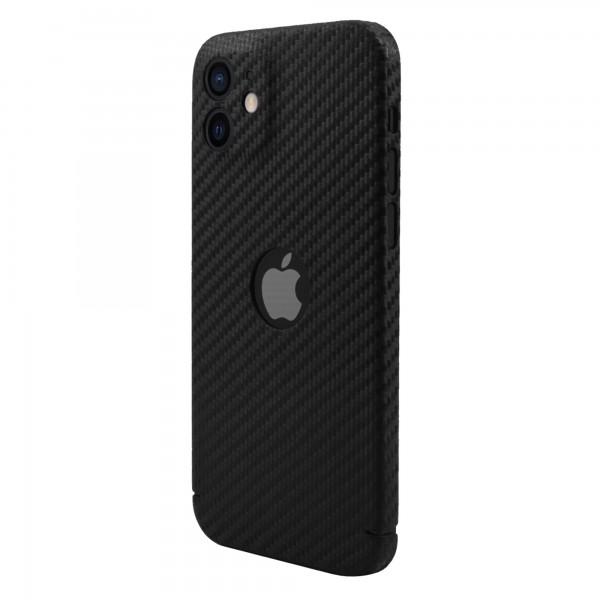 "CarbonSeries Cover - iPhone 12 6.1"" mit Logoausschnitt (MagSafe kompatibel)"