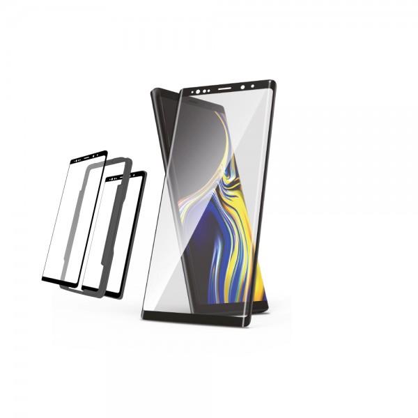 NEVOGLASS 3D - Samsung S9 Plus curved glass mit EASY APP schwarz