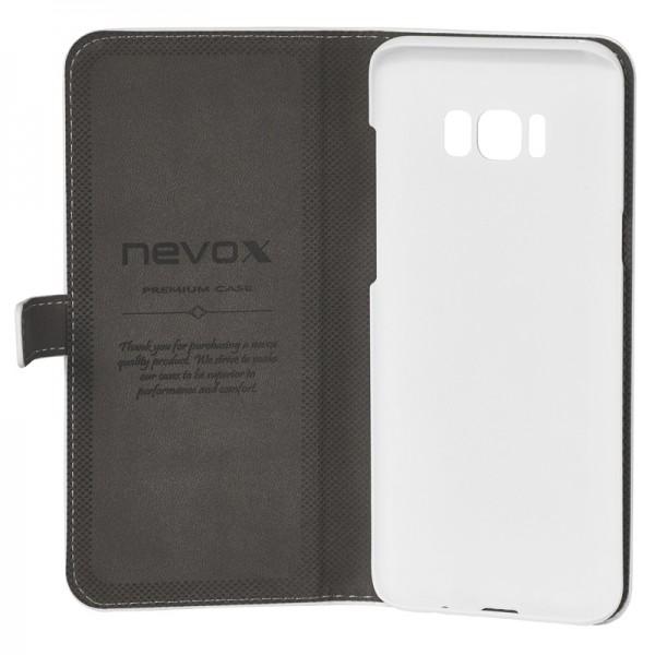 ORDO - Samsung Galaxy S8 Plus Booktasche, weiss-grau