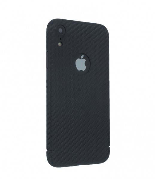 CarbonSeries Cover - iPhone XR mit Logoausschnitt