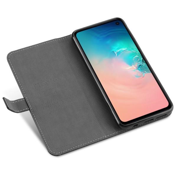 ORDO - Samsung Galaxy S10E Booktasche, schwarz-grau