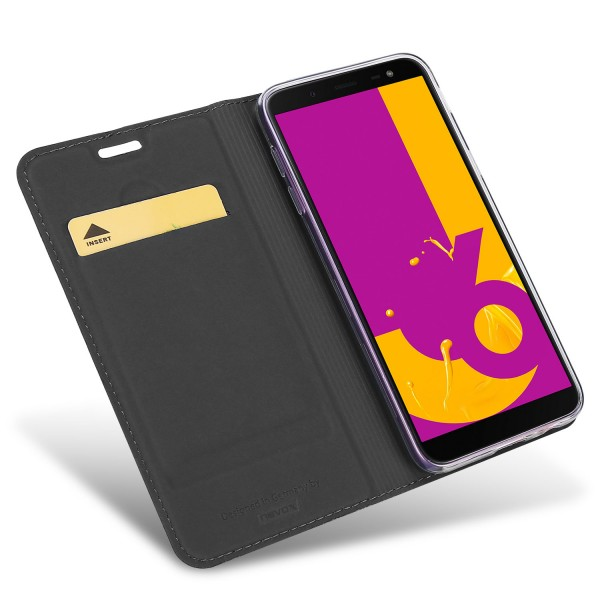 Vario Series - Samsung Galaxy J6 Booktasche, basaltgrau