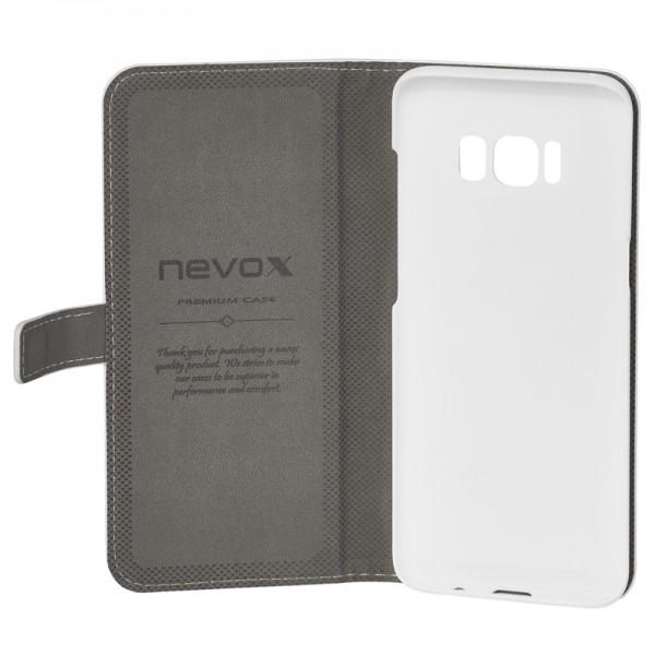 ORDO - Samsung Galaxy S8 Booktasche, weiss-grau