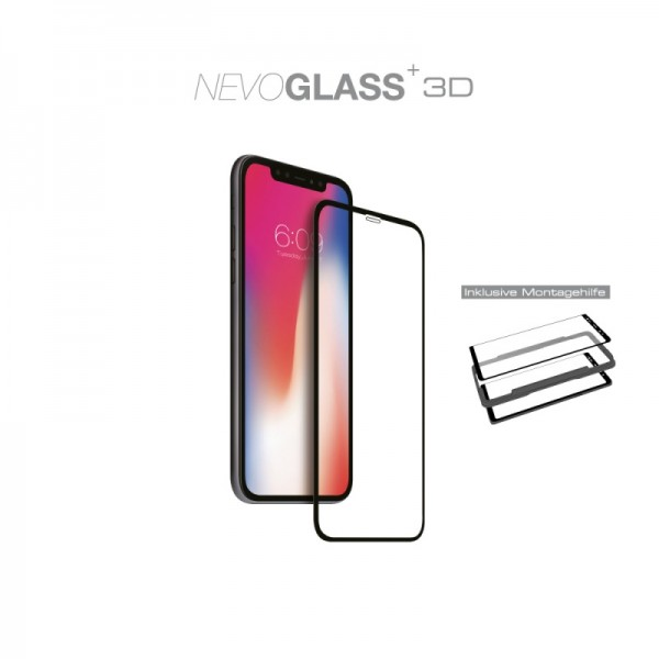 "NEVOGLASS 3D - iPhone 11 Pro / XS / X 5.8"" curved glass mit EASY APP"